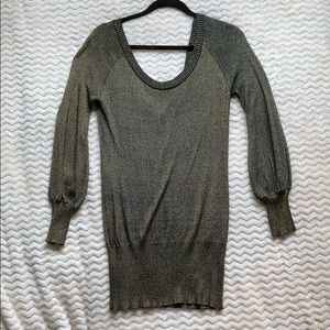 XOXO Gold shimmer sweater